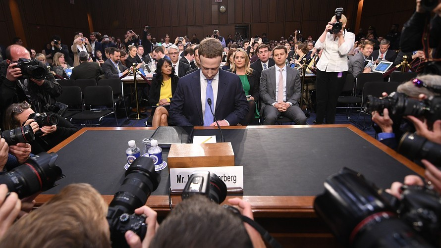Marc Zuckerberg being deposed
